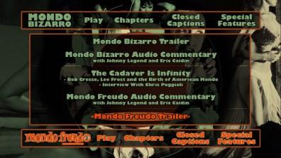 Mondo Bizarro/Freudo extras menu