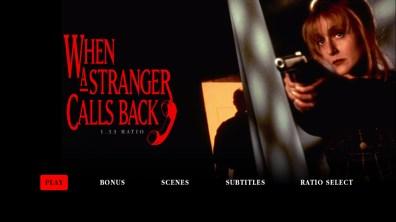 When a Stranger Calls Back 1.33:1 menu