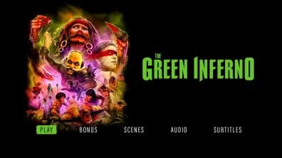 The Green Inferno Blu-ray menu