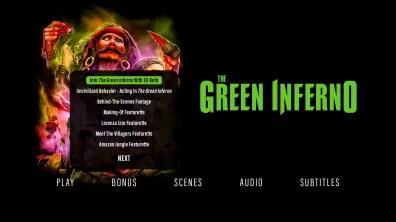 The Green Inferno extras menu 1