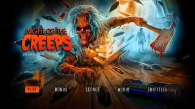 Night of the Creeps Director's Cut menu