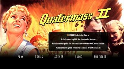 Quatermass II audio menu