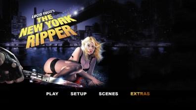 The New York Ripper Blu-ray menu