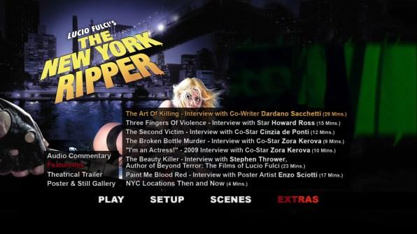 The New York Ripper extras menu 2