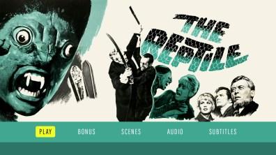 The Reptile Blu-ray menu