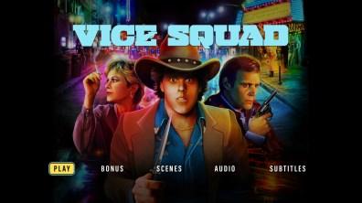 Vice Squad Blu-ray menu