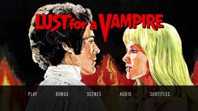 Lust for a Vampire Blu-ray menu