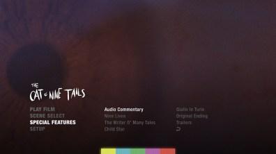 The Cat o' Nine Tails extras menu