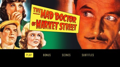 The Mad Doctor of Market Street Blu-ray menu