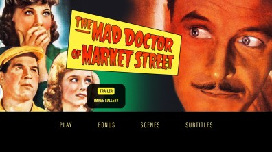 The Mad Doctor of Market Street extras menu