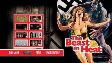 The Beast in Heat Blu-ray Chapter Menu