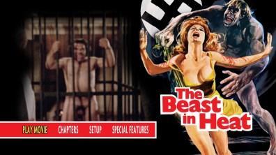 The Beast in Heat Blu-ray Menu
