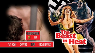 The Beast in Heat Blu-ray Setup Menu