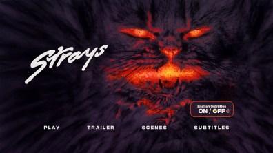 Strays Blu-ray Subtitle Menu
