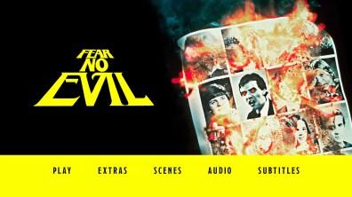 Fear No Evil Blu-ray Menu