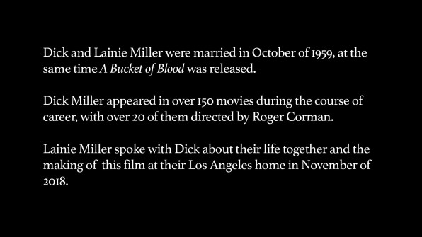 Dick Miller and Lainie Miller Interview