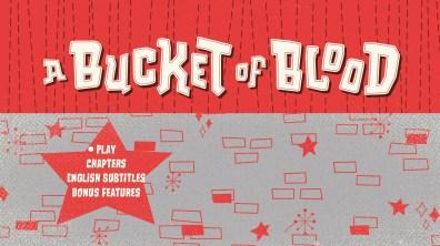 A Bucket of Blood Blu-ray Menu