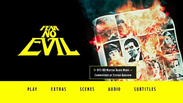 Fear No Evil Blu-ray Audio Menu