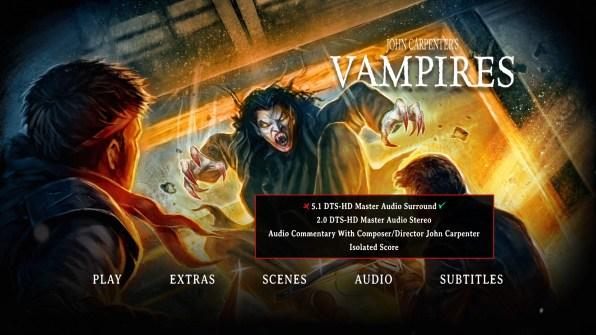 Vampires Blu-ray Audio Menu