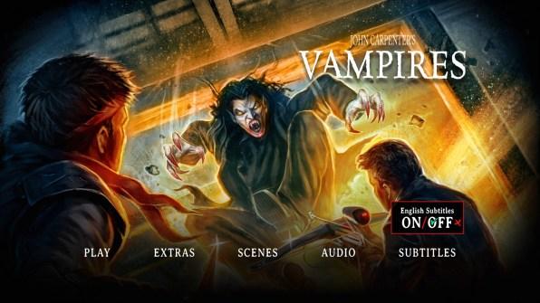 Vampires Blu-ray Subtitles Menu