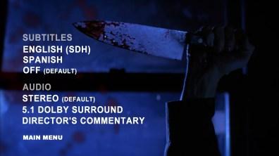 Malevolence Blu-ray Setup Menu