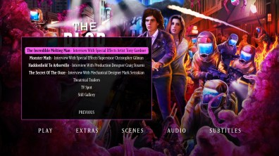 The Blob extras menu 2