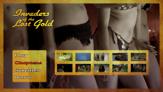 Invaders of the Lost Gold scene select menu