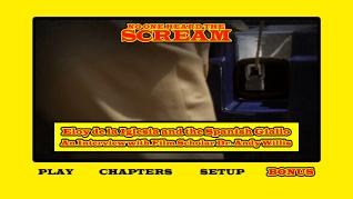No One Heard the Scream extras menu