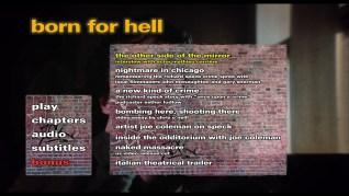 Born for Hell Blu-ray Extras Menu