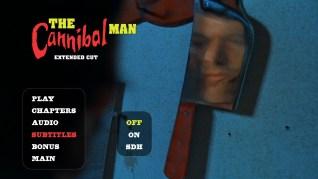 Cannibal Man Extended Cut Blu-ray Subtitles Menu