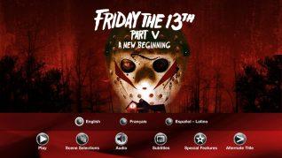 Friday the 13th Part V: A New Beginning Blu-ray Audio Menu