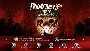 Friday the 13th Part V: A New Beginning Blu-ray Extras Menu 4