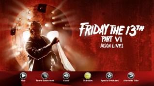 Friday the 13th Part VI: Jason Lives Blu-ray Menu