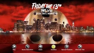 Paramount Pictures Friday the 13th Part VIII: Jason Takes Manhattan Blu-ray Menu