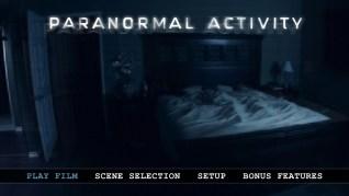 Paranormal Activity Blu-ray Menu