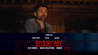 Scare Me Blu-ray Setup Menu