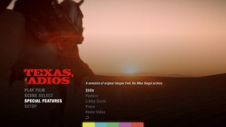 Texas, Adios Blu-ray Extras Menu 3
