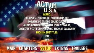 Action U.S.A. Blu-ray Setup Menu
