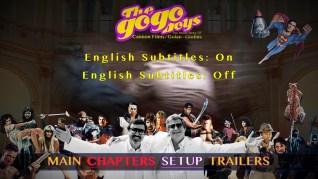 The Go-Go Boys Blu-ray Setup Menu