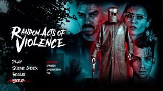 Random Acts of Violence Blu-ray Setup Menu