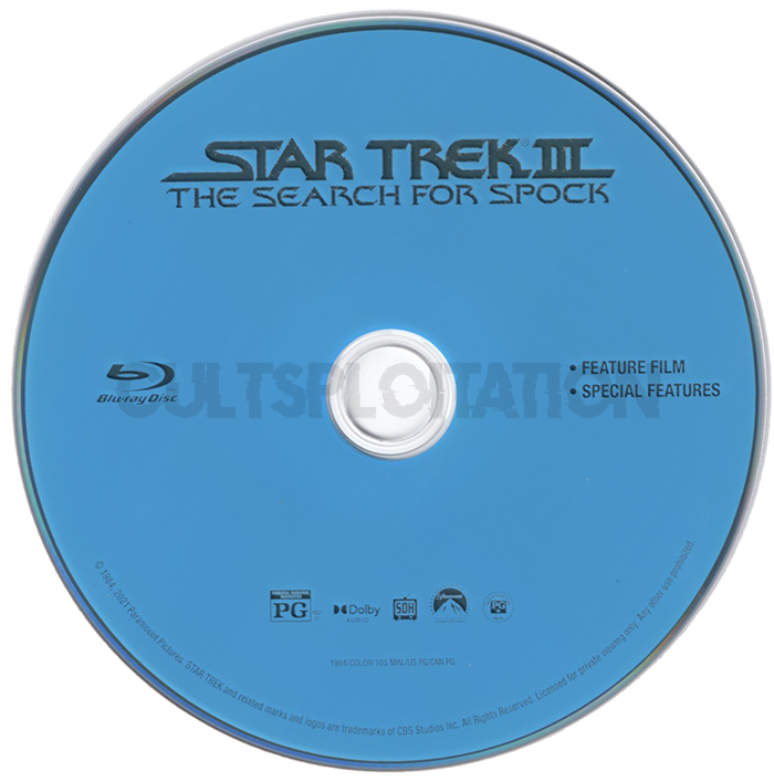 Star Trek III: The Search for Spock Blu-ray Disc