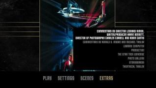 Star Trek III: The Search for Spock Blu-ray Extras Menu