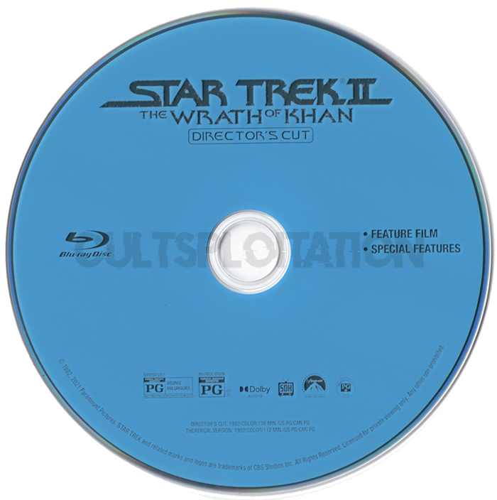 Star Trek II: The Wrath of Khan Blu-ray Disc