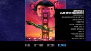 Star Trek IV: The Voyage Home Blu-ray Extras Menu