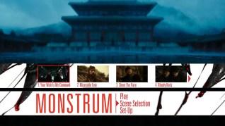 Monstrum Blu-ray Scenes Menu