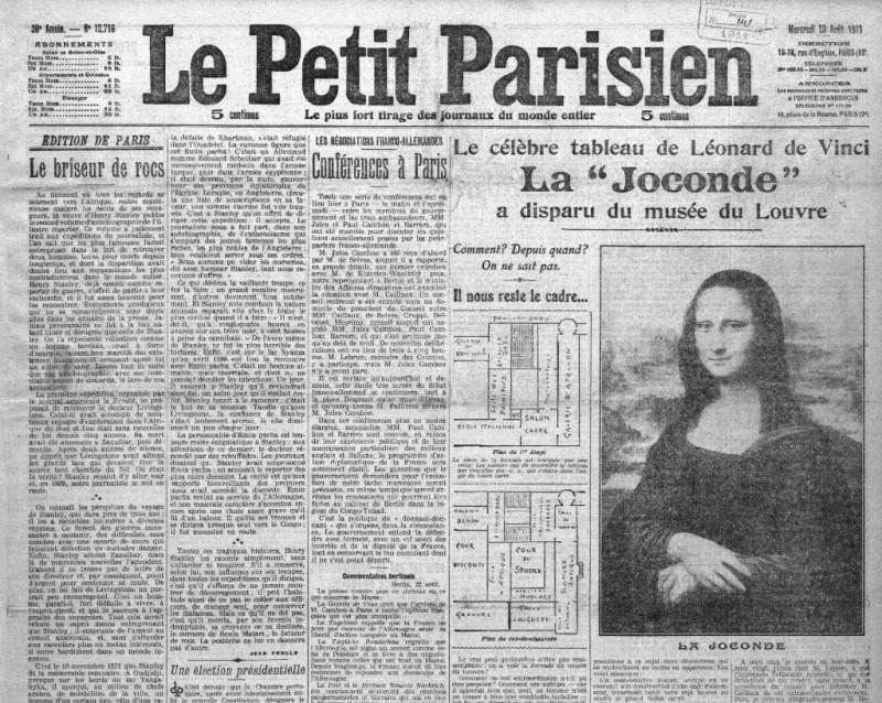 giornale-press-journal-furto-theft-gioconda-monna-lisa-leonardo-davinci-cult-storie-art-arte-parigi-louvre