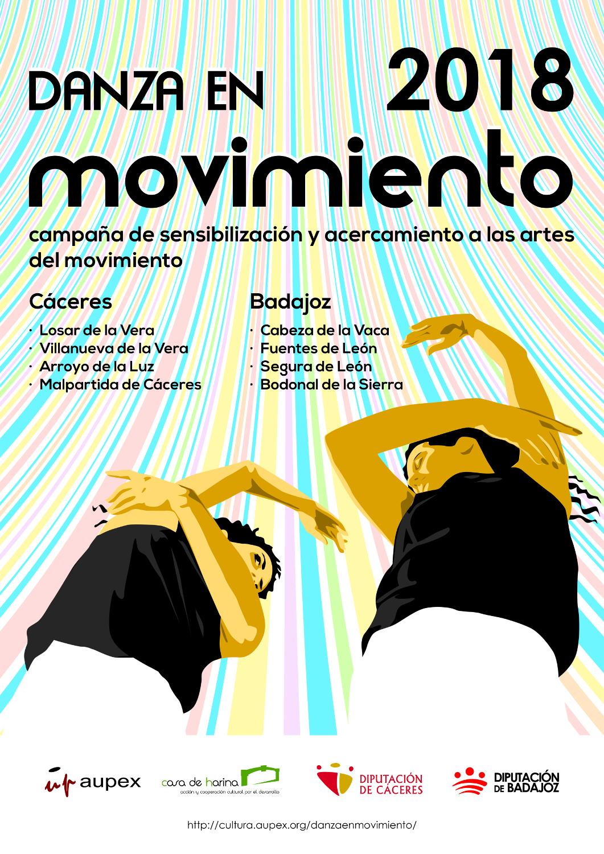 La campaña Danza en movimiento 2018 da comienzo en ocho municipios extremeños
