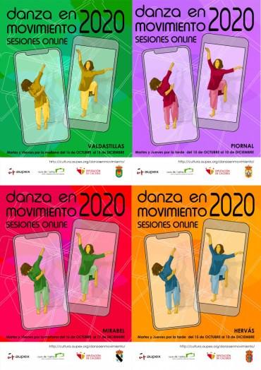 La campaña Danza en movimiento 2020 de AUPEX llega en el mes de octubre a la provincia de Cáceres