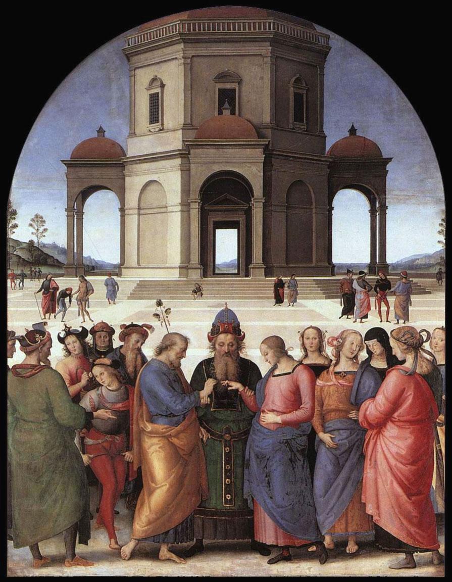 El matrimonio de la Virgen - Perugino