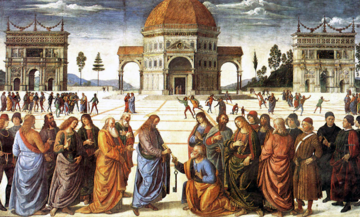 Perugino: Entrega de llaves